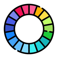 See more icon inspiration related to wheel, color, art and design, edit tools, color wheel, variety, choose, colour, colours and colors on Flaticon.