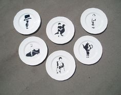 PLAYGROUND PLATES Emily Forgot Graphic Artist #ceramics