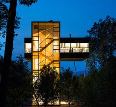 CJWHO ™ (A Skyscraper Style Treehouse With Soaring Mountain...)