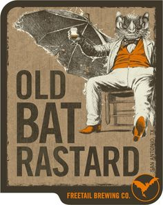 Freetail Old Bat Rastard #packaging #beer #label #bottle