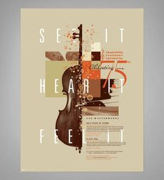 Design for Charleston Symphony Orchestra #earthtones