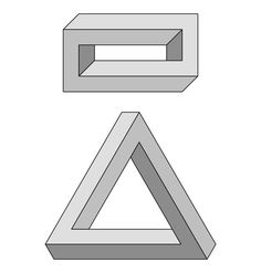 Escher Brick and Penrose Triangle
