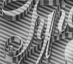 Luke Lucas – Typographer | Graphic Designer | Art Director / Bench.li #type #3d #typography