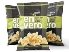 Olive oil crisps bag #packaging