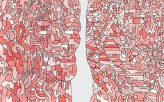Islands in LA- Luke Ramsey Artist Portfolio #abstract #illustration #red #art