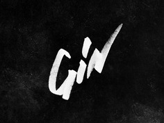 Gin - hand drawn type lockup long road distillers michigan craft distilling alcohol graffiti hand-drawn typography craft spirits gin ___ Josh Kulchar