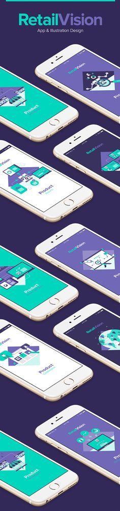 RetailVision // App & Illustration on Behance #color #ux #ui #responsive #mobile #flat #icon #mac #green #purple #app