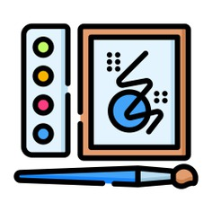 See more icon inspiration related to paint, art, brush, watercolors, art and design, Watercolor, paint brush, painting and drawing on Flaticon.