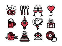 Wedding_icons_large #icon #picto #wedding