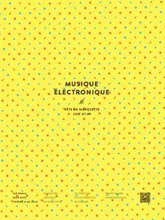 Fête de Marquette   Kyle Tezak #poster #music #yellow #kyle tezak #swink #musique electronique
