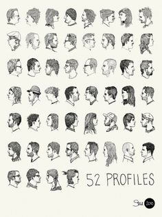 All sizes | 52 Profiles Poster | Flickr - Photo Sharing! #illustration