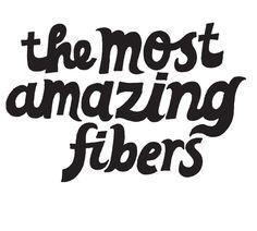 The most amazing fibers #typography