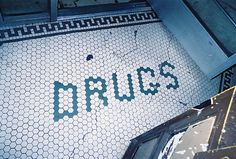 Source: hippiesispunkz #typography #architecture #interior #mosaic #drugs #ground #floor #tiles