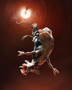 Rithusets nya sida! #illustration #character #cow