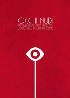 Occhi nudi, poster design by Filippo Fanciotti