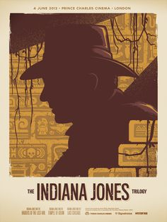 Indiana Jones Trilogy Signalnoise The art of James White #movie #poster