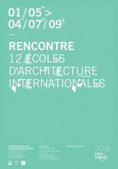 FRAC Centre / identité : Julie Rousset #design #geometric #poster