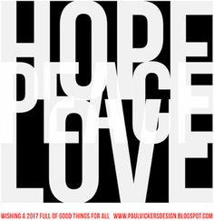 Hope Peace Love fro 2017. #hope #peace #love #2017 #greeting #new year
