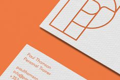 Paul Thomson by Duane Dalton #business card #graphic design #brand #brand identity #orange