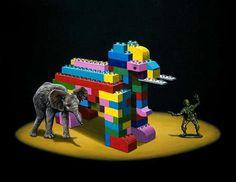 Ð•lephant animal lego art #surrealism #realism #painting #paintings #art #animal