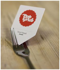 Businesscardsii #red #business #card #logo #typo #fork