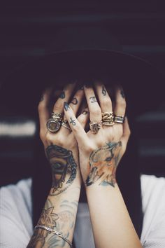Finger designs Tattoo Ideas for Girls