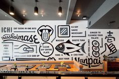Erik Marinovich ICHI Mural 01 #mural #japanese #illustration #environmental #signage #typography