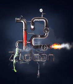 12 Zidean #12 #design #number #manipulation #poster #bratus #typography