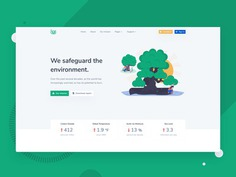 Leaf - Nonprofit Environmental Bootstrap 4 Template