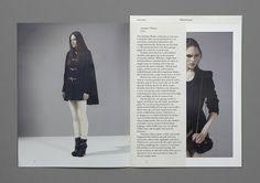 SI Special: Hannes Gloor & Stefan Jandl | September Industry / Bench.li #graphic design #fashion #editorial