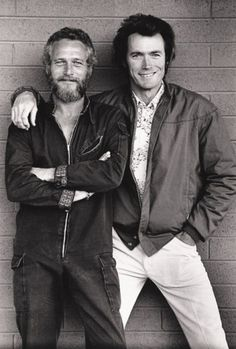 Cooler Than Before (awesomepeoplehangingouttogether: Paul Newman and...) #eastwood #newman #clint #paul