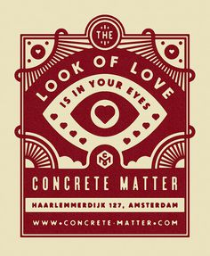 Concrete Matter Valentine's Day Flyer - Tim Boelaars #boelaars #tim #concrete #matter