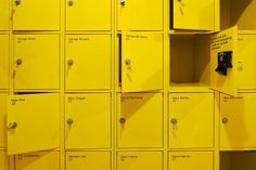 Moderna Museet — Stockholm Design Lab #lab #design #moderna #yellow #details #copy #lockers #environmental #museet #stockholm #artists #numbers