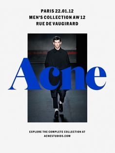 Exclusive Preview | Men's Collection AW12 | Paris 22.01.2012 #fashion #type #overlapping #blue