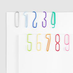 Fancy Numberclips #numbers #paper #clips