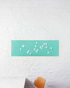 This wall calendar was designed by German company Populaere Produkte and comes complete with 100 post-it notes, each with a hole to mark and