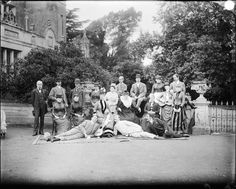 House party, Hardwick House, Hawstead, Suffolk, 1887. #vintage #photography