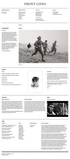 Front Lines : The Heart Of Spain on the Behance Network #web #awesome