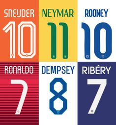 NIKE world cup fonts #nike world cup #numbers #custom typeface