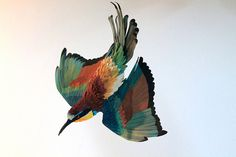 New Paper Birds from Diana Beltran Herrera #sculpture #construction #bird #illustration #art #paper #dimensional