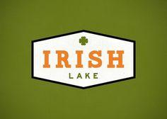 Branding 10,000 Lakes #branding #orange #crest #illustration #lake #logo #irish #green