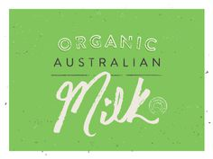 Organic Australian Milk #design #packaging #milk #organic #cj rhodes