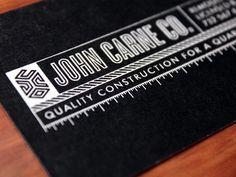 Construction Business Card #branding #logo #identity