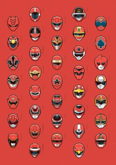 red super sentai #illustration