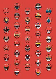 red super sentai #illustration