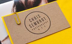 SEMBROT PHOTO The Pressure #card #yellow #letterpress #business