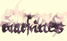 Más tamaños | trazos | Flickr: ¡Intercambio de fotos! #calligraphy #illustration #design #typography