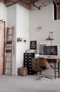 industriel look workspace #office #desk #home #workspace