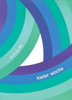 1971 - color scheme #design #kieler #graphic #poster #woche