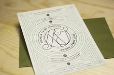 Benjamin Della Rosa // Graphic Design // Illustration #invitation #screen #silk #deco #wedding